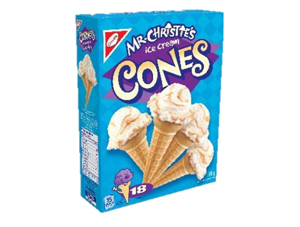 MR CHRISTIE ICE CREAM CONES