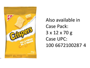 CRISPERS Salt & Vinegar Single Serve