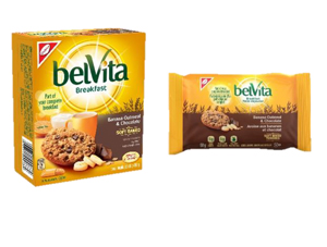 belVita Banana Oatmeal & Chocolate Single Serve